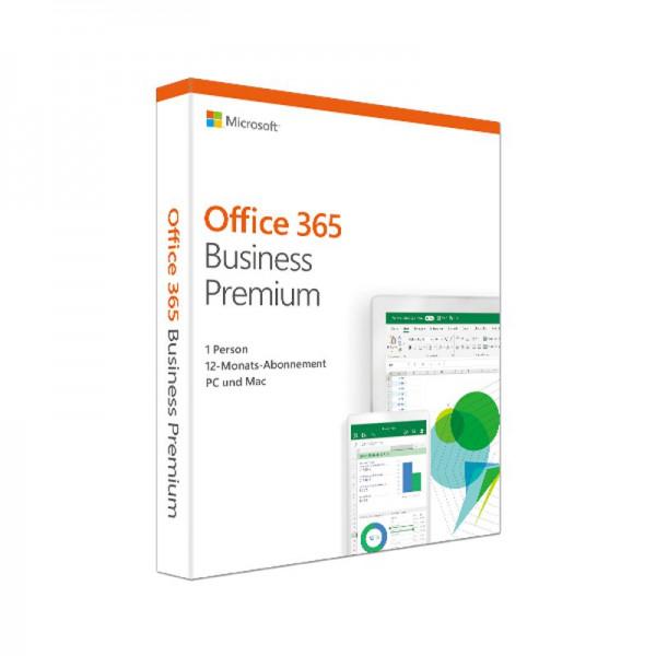 Microsoft Office 365 Business Premium, 1 Jahres-Lizenz, deutsch, PKC