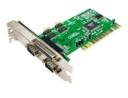 PCI-Karte mit 1 x parallel + 2 x seriell (RS232)
