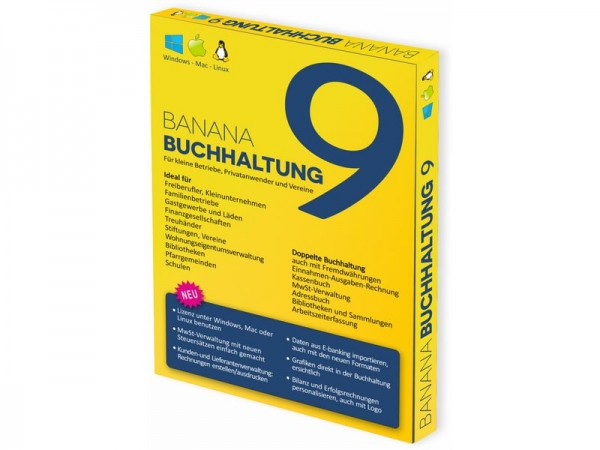 Banana Buchhaltung 9, deutsch, Win / Mac / Linux