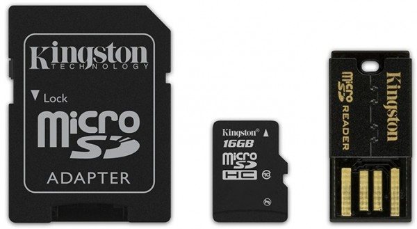 16 GB microSD-Card inkl. USB- und SD-Card-Adapter, Kingston