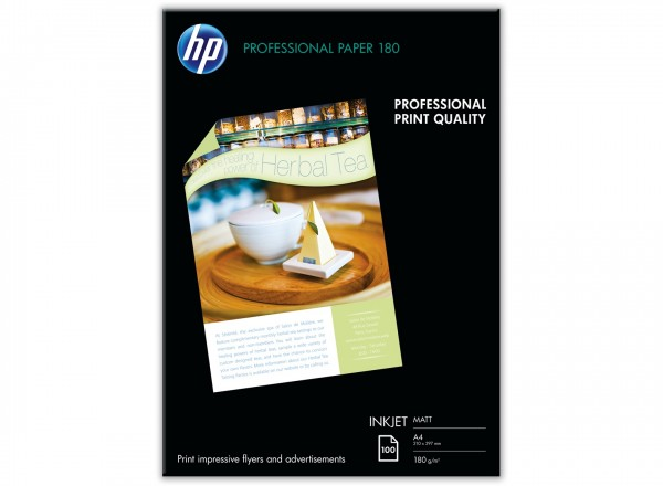 HP Professional Inkjet Paper, matt, 180 g/m, 100 Blatt A4