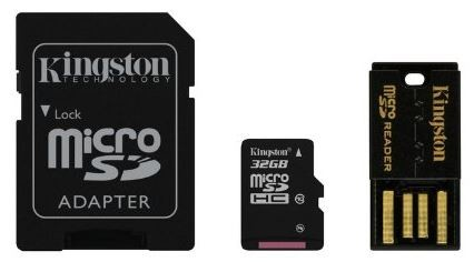 32 GB microSD-Card inkl. USB- und SD-Card-Adapter, Kingston