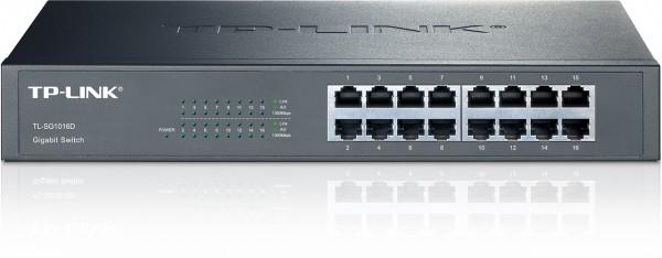 Netzwerk-Switch 16 Port 10/100/1000 (Gigabit), TP-Link TL-SG1016D