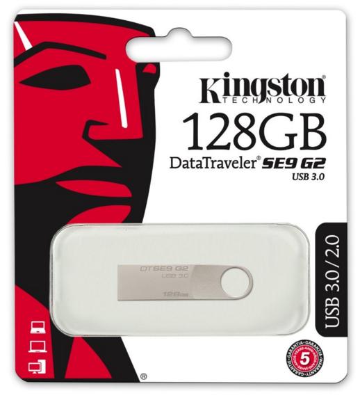 Kingston DataTraveler SE9 G2 USB 3.0 - USB Drive 128 GB