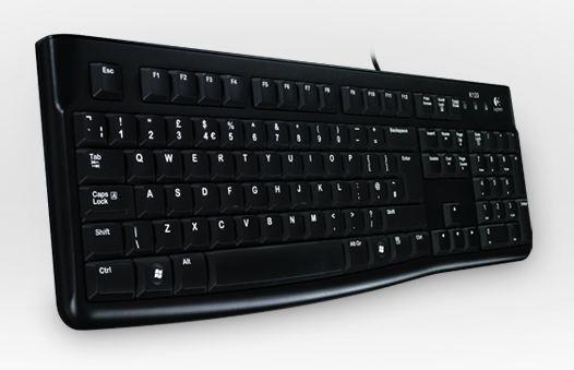 Logitech K120 Keyboard schwarz USB