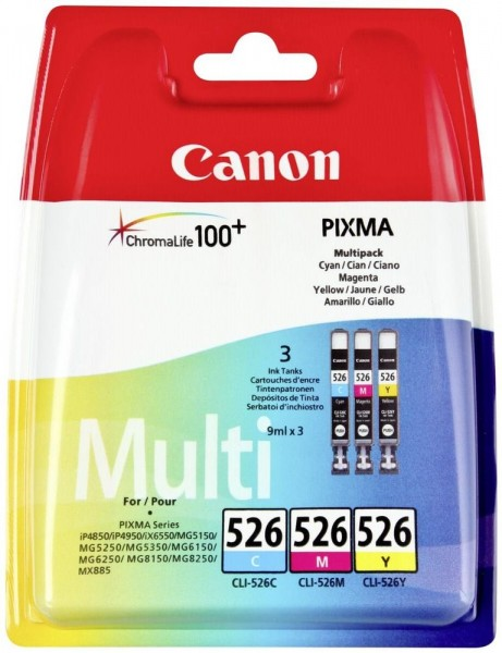 Canon CLI-526 Multipack (CLI-526C / CLI-526Y / CLI-526M)