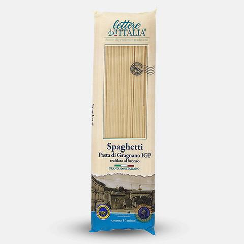 Spaghetti, 500 g, lettere dall'ITALIA