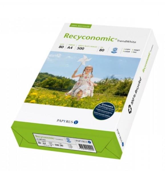 Kopierpapier, Recycling, 500 Blatt, A4, 80 g/m2, Recyconomic TrendWhite