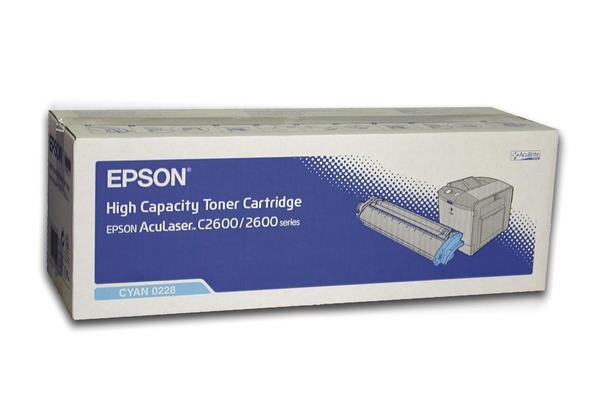 EPSON Toner C13S050228, cyan, für EPSON AcuLaser C2600 Serie
