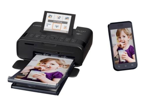 Canon SELPHY CP1300 Fotodrucker mit Display, WLAN, schwarz