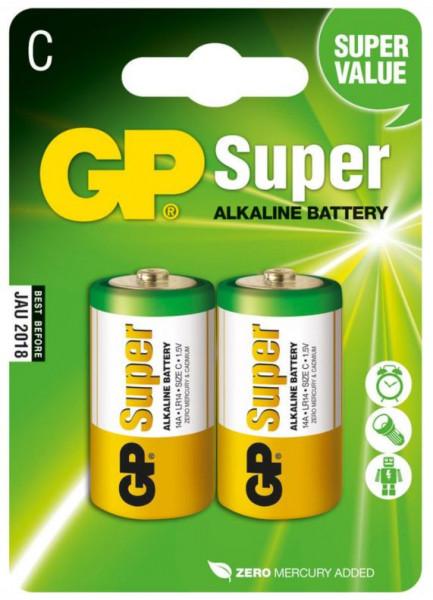 GP Batteries Alkaline Batterien C (Baby) - 2er Pack