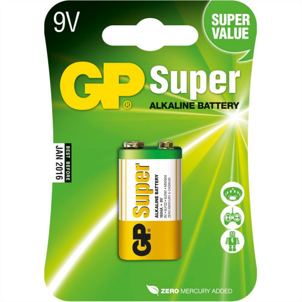 GP Batteries Alkaline Batterien E-Block