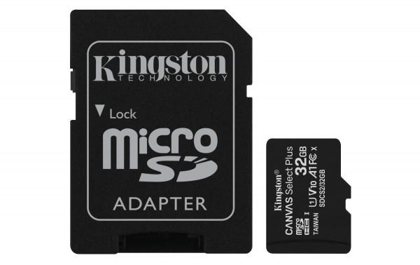 32 GB microSDHC-Card inkl. Adapter auf SD-Card, Kingston