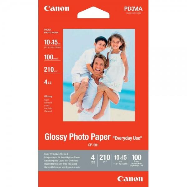Fotopapier Canon GP-501, 100 Blatt, 210 g/m2, 10 x 15 cm