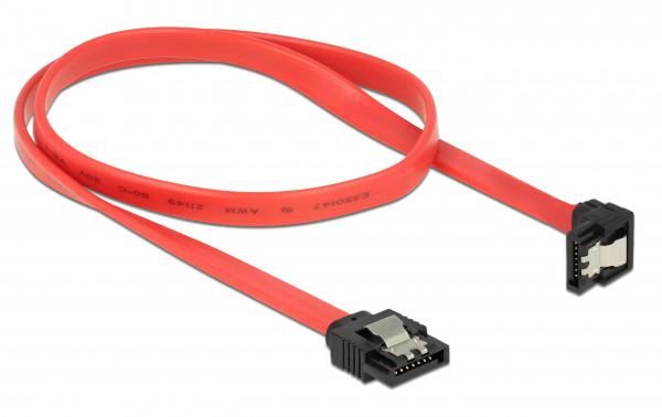 S-ATA3 Anschlusskabel mit Sicherheitslasche, 0,5 m, abgewinkelt