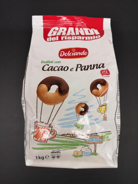 Dolciando Frollini con Cacao e Panna, 1 kg