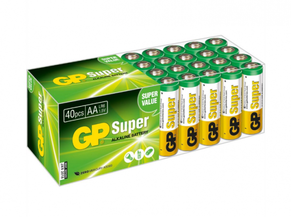 GP Batteries Alkaline Batterien AA - 40er Pack