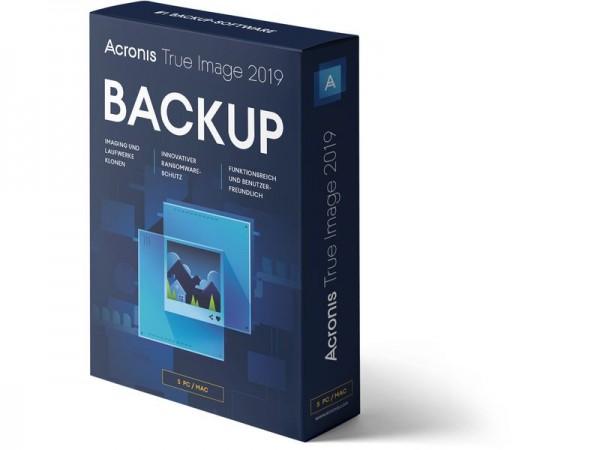Acronis True Image Standard 2019, Lizenz für 5 PCs