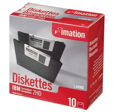 Disketten 10er Pack 1.44 MB, imation