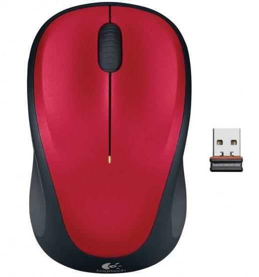 Logitech Wireless Mouse M235, rot