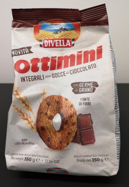 Divella Ottimini Integrale con gocce di cioccolato, 350 g