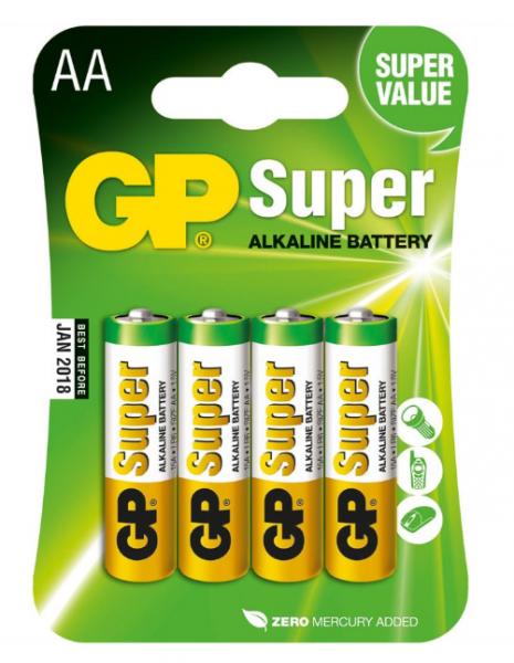 GP Batteries Alkaline Batterien AA - 4er Pack