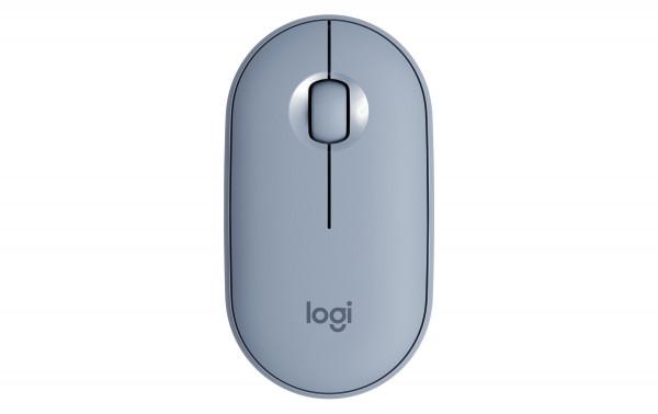 Logitech Pebble M350 mobile Maus, blau (blue grey)