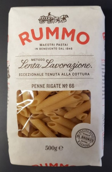Penne Rigate (Nr. 66), 500 g, RUMMO