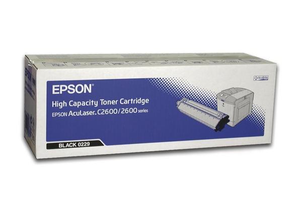 EPSON Toner C13S050229, schwarz, für EPSON AcuLaser C2600 Serie