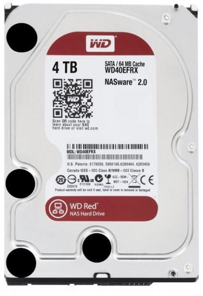 Harddisk S-ATA 4 TB Western Digital WD40EFRX, RED für NAS