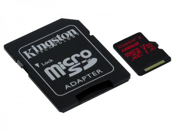 128 GB microSDXC-Card inkl. Adapter auf SD-Card, Kingston, UHS-I