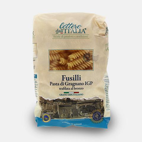 Fusilli, 500 g, lettere dall'ITALIA