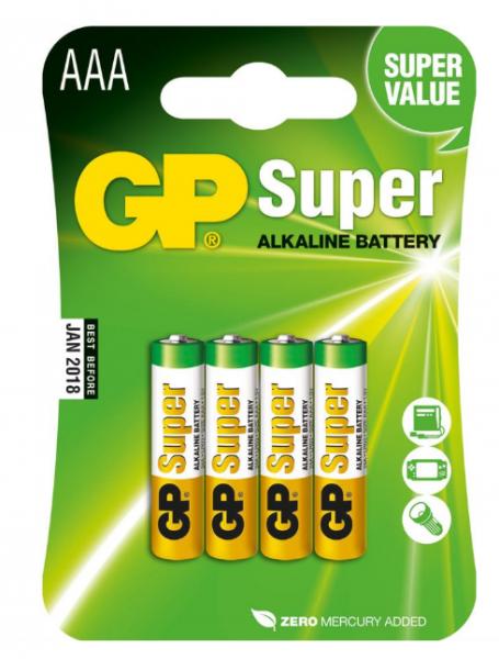 GP Batteries Alkaline Batterien AAA - 4er Pack