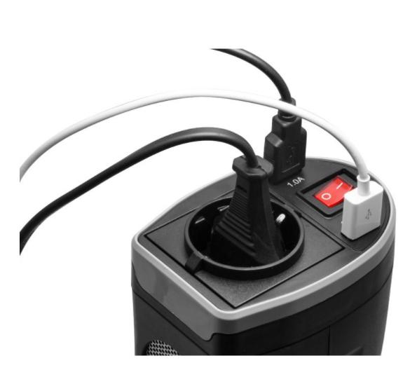 Spannungswandler 12 V auf 230 V, 200 Watt, Technaxx