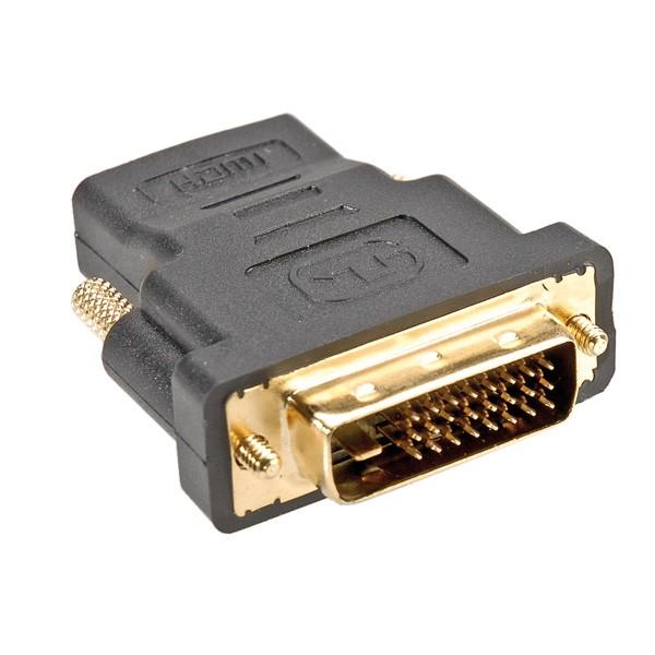 HDMI - DVI Adapter (HDMI Kupplung, DVI Stecker)