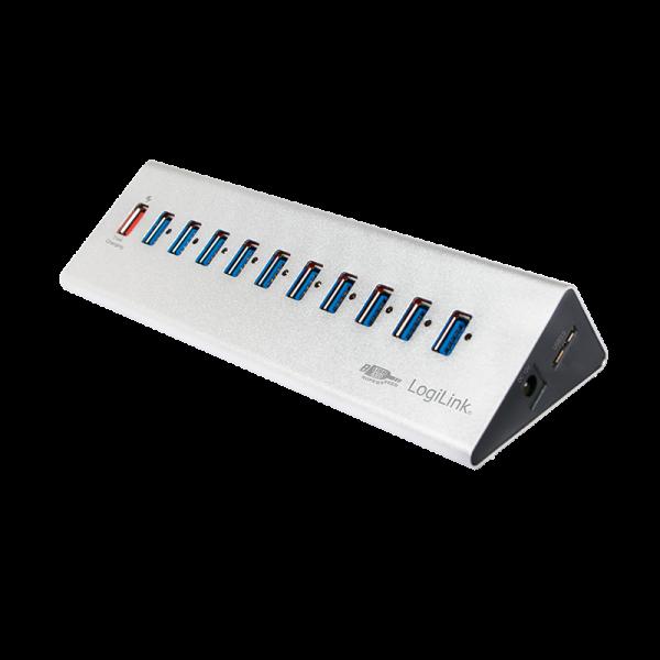 USB 3.0 Hub 10+1 Port, Logilink