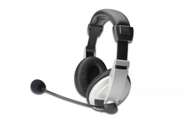Kopfhörer mit Mikrofon (Headset) DIGITUS DA-12201