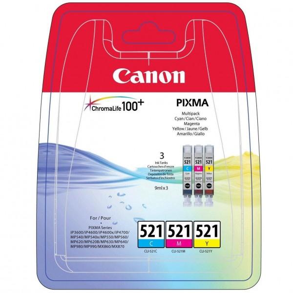 Canon CLI-521 Multipack (CLI-521C / CLI-521Y / CLI-521M)