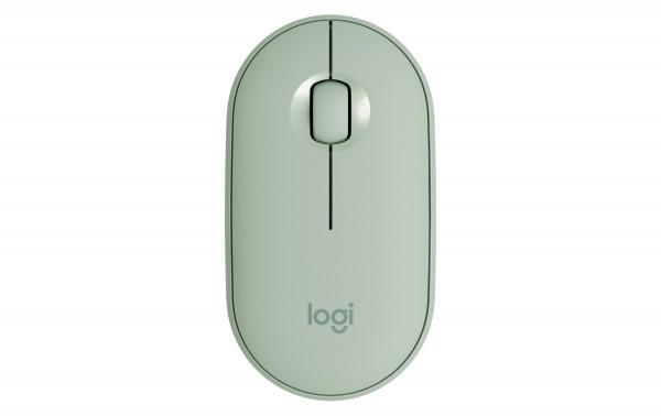 Logitech Pebble M350 mobile Maus, grün (eucalyptus)