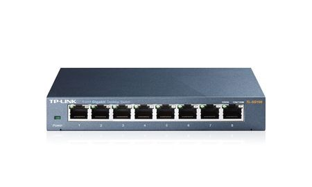 Netzwerk-Switch 8 Port 10/100/1000 (Gigabit), TP-Link TL-SG108