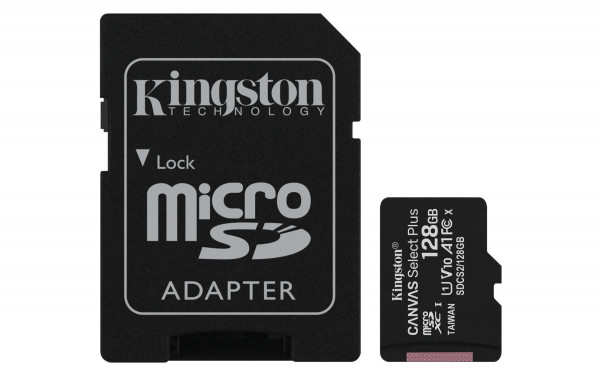 128 GB microSDXC-Card inkl. Adapter auf SD-Card, Kingston